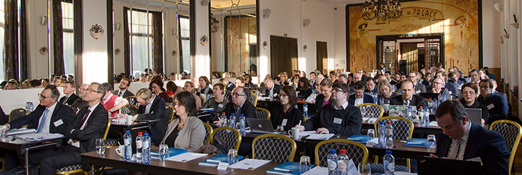 A full room of participants at the RDM Workshop